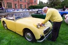 """Austin Healey /""""Frog Eye Sprite/"""" 3D cufflinks classic car pewter effect cufflinks ref16"""