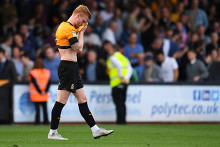 dejected Liam ONeil Cambridge United final whistle Editorial