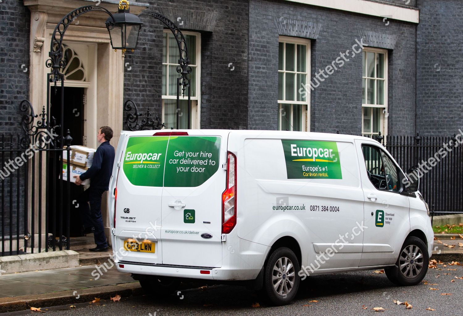Delivery Europcar 10 Downing Street Editorial Stock Photo Stock