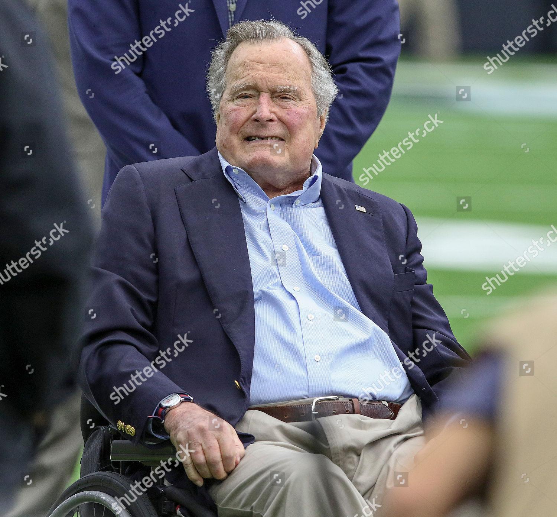 Former President George Hw Bush During Pregame Editorial Stock Photo
