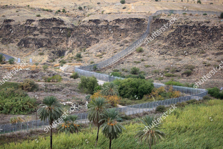 view border fence between Israel Jordan Yarmouk Editorial