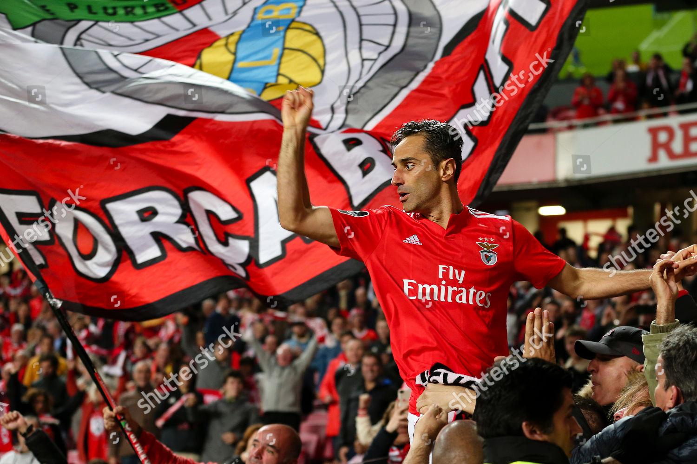 new style 3760e 1b009 Jonas Benfica celebrates scoring during Portuguese First ...