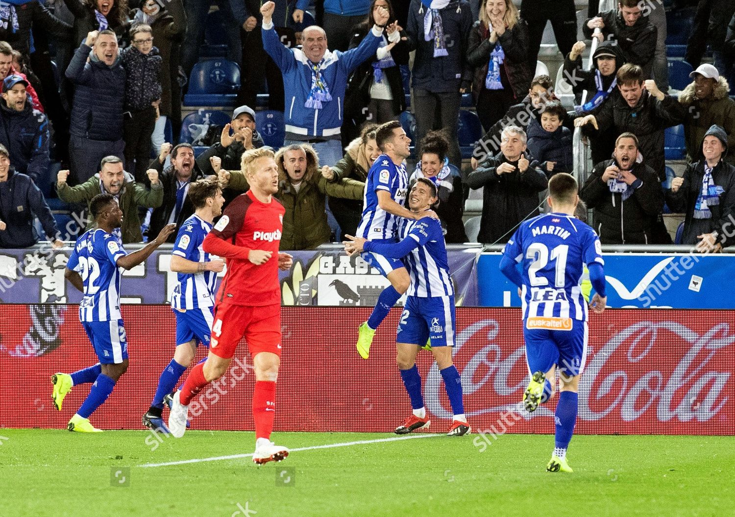 Deportivo Alaves Players Celebrate During Their Spanish Editorial Stock Photo Stock Image Shutterstock