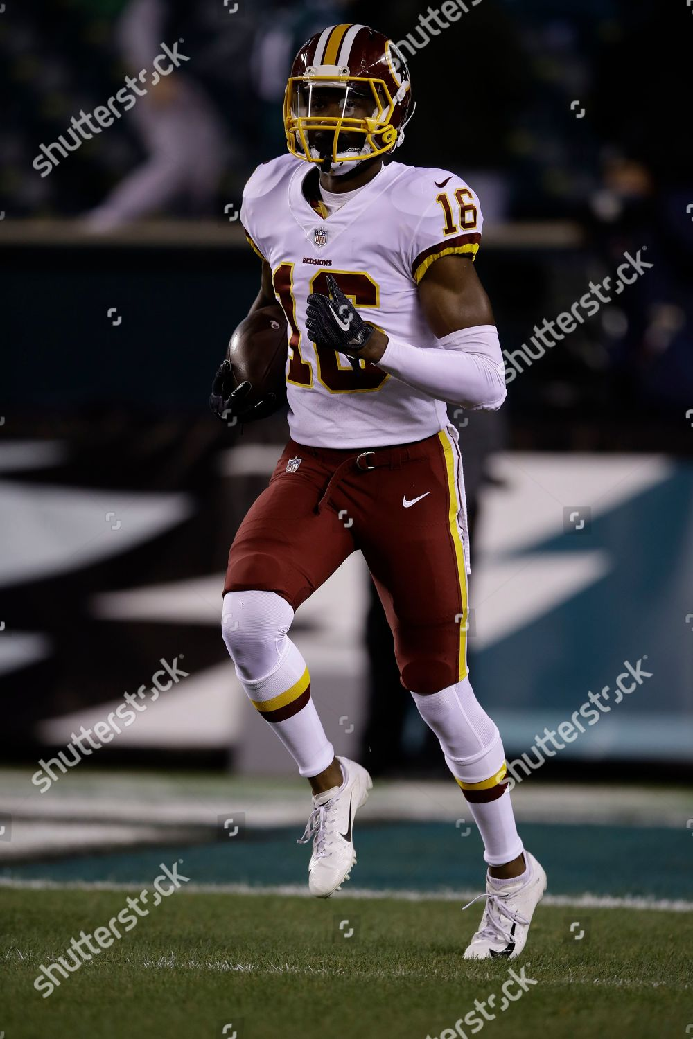 best service 571f1 ce02c Washington Redskins Jehu Chesson warms before NFL Editorial ...