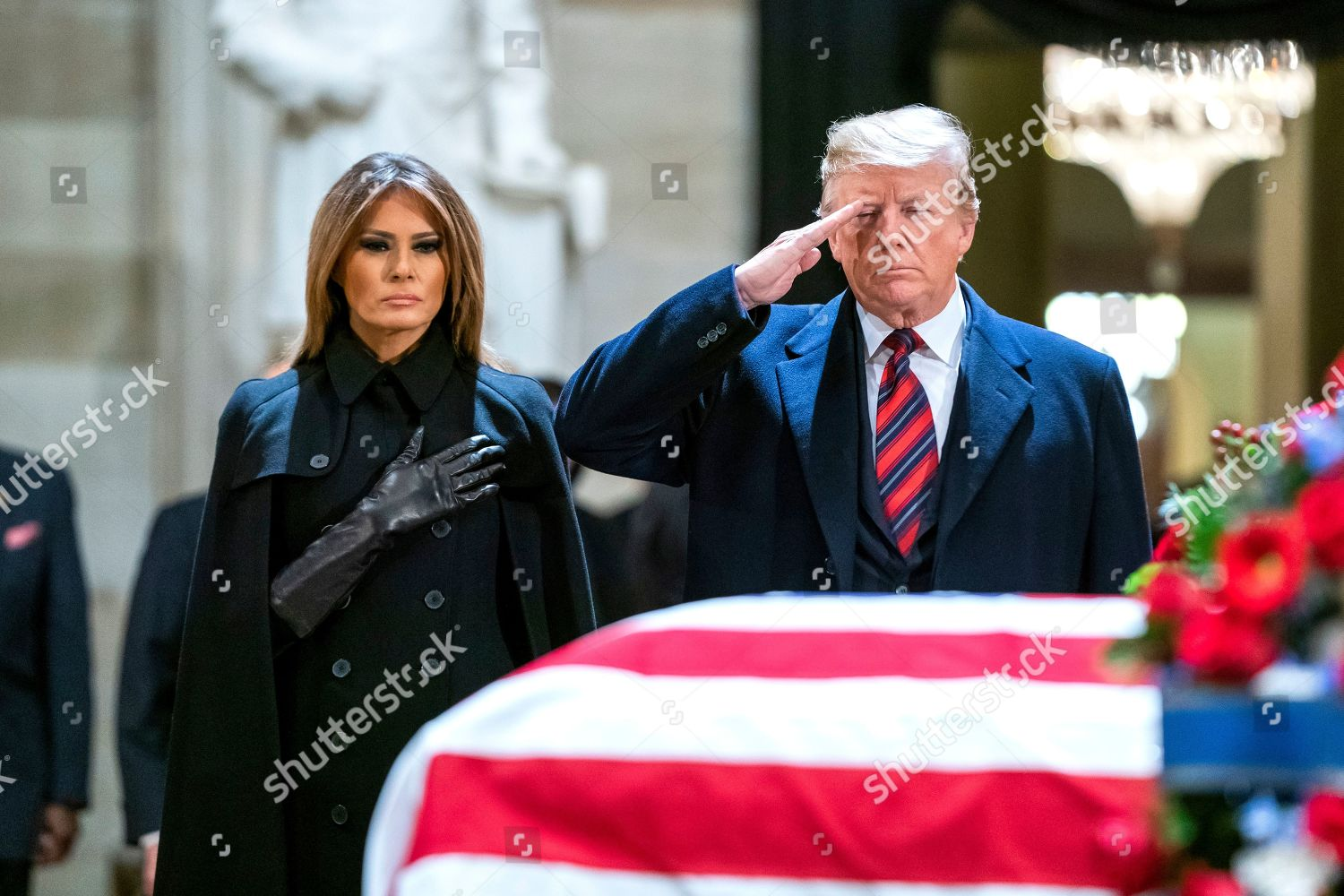 Us President Donald Trump R His Wife Editorial Stock Photo Stock Image Shutterstock