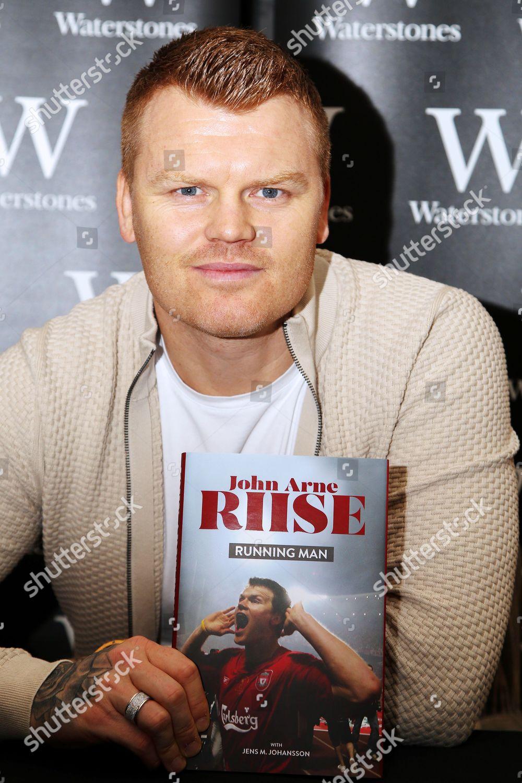 Former Liverpool footballer John Arne Riise signs ...