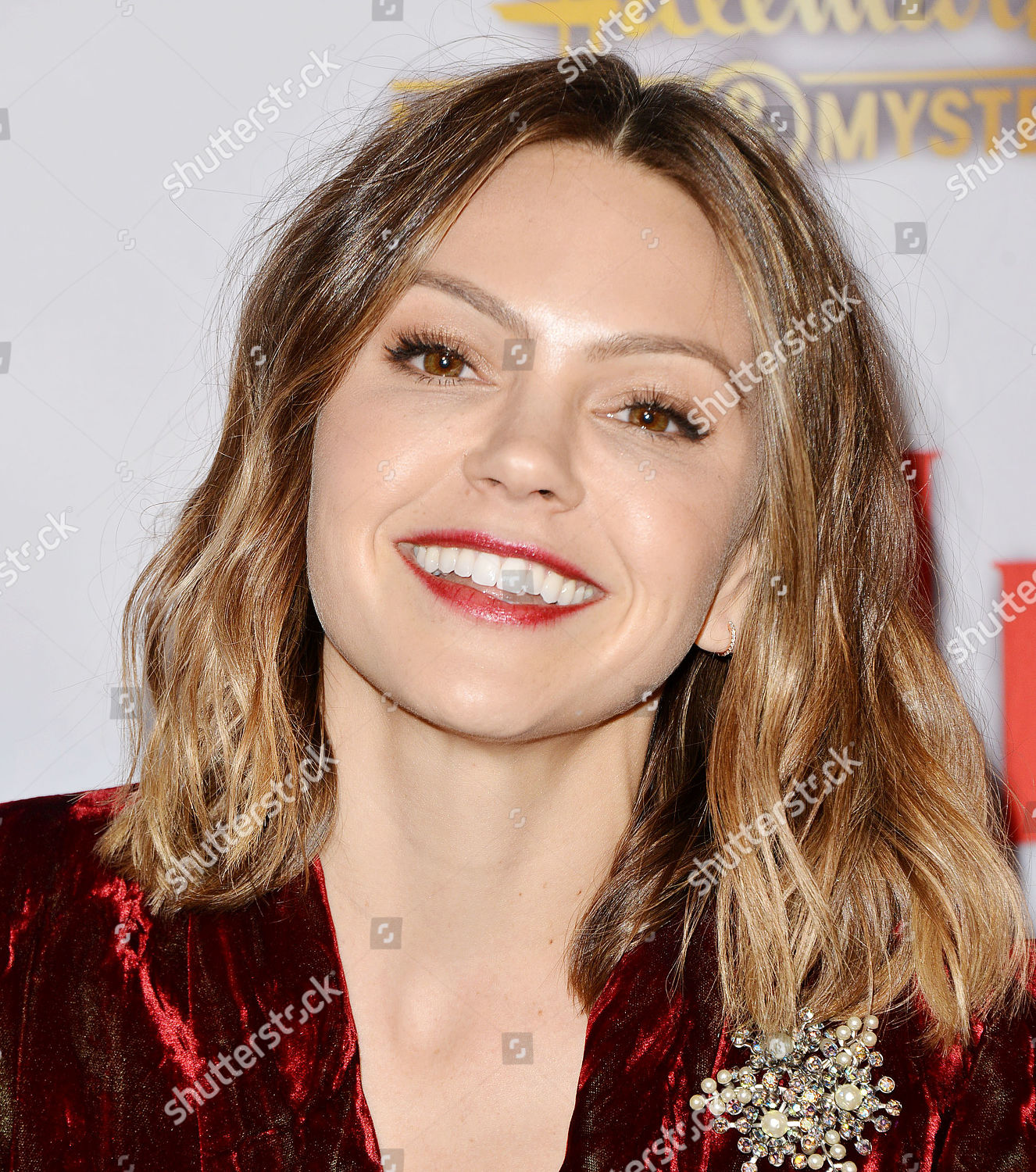 Once Upon A Christmas Miracle.Aimee Teegarden Editorial Stock Photo Stock Image