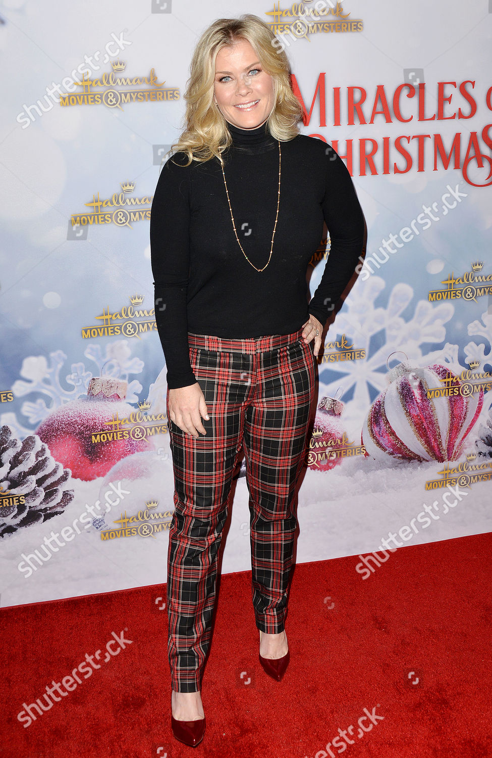 Once Upon A Christmas Miracle.Alison Sweeney Editorial Stock Photo Stock Image