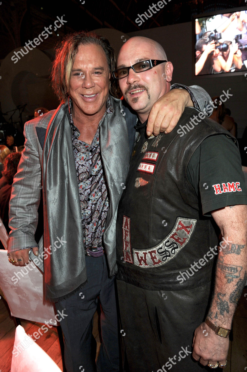 Mickey Rourke Hells Angel Editorial Stock Photo - Stock