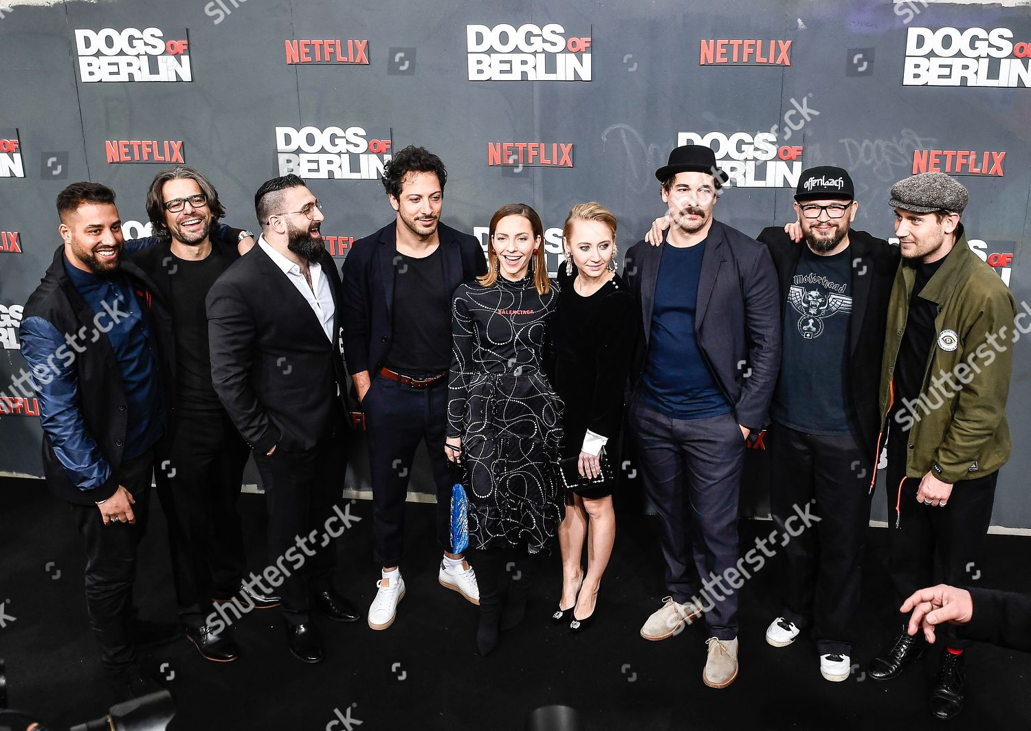 Main cast members pose German director screenwriter