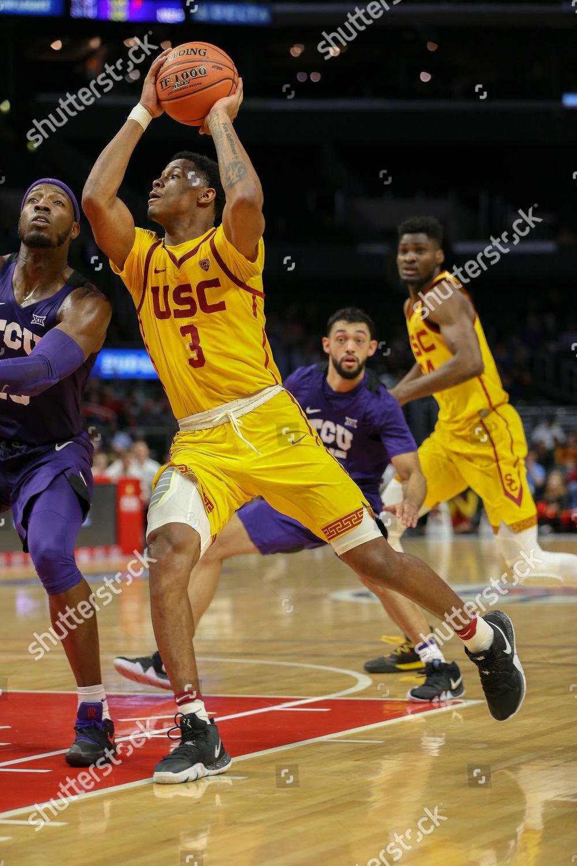 USC Trojans guard Elijah Weaver 3 drives Editorial Stock ...