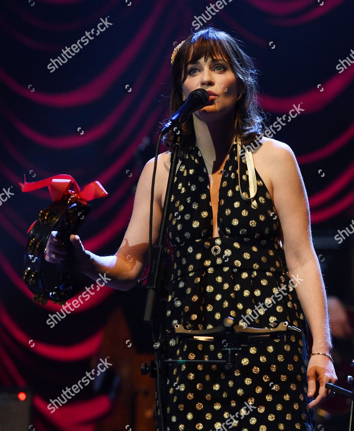 She And Him Christmas.Zooey Deschanel Music Duo She Him Performs Editorial Stock