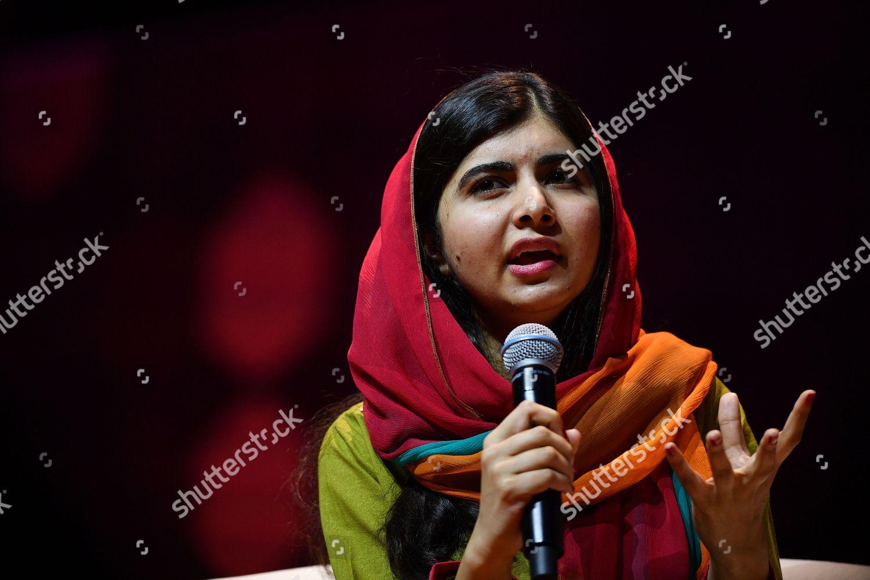 Nobel Peace Prize laureate Malala Yousafzai speaking