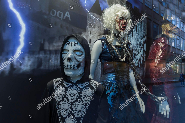 Ghosts monsters shop window decoration Halloween Bavaria