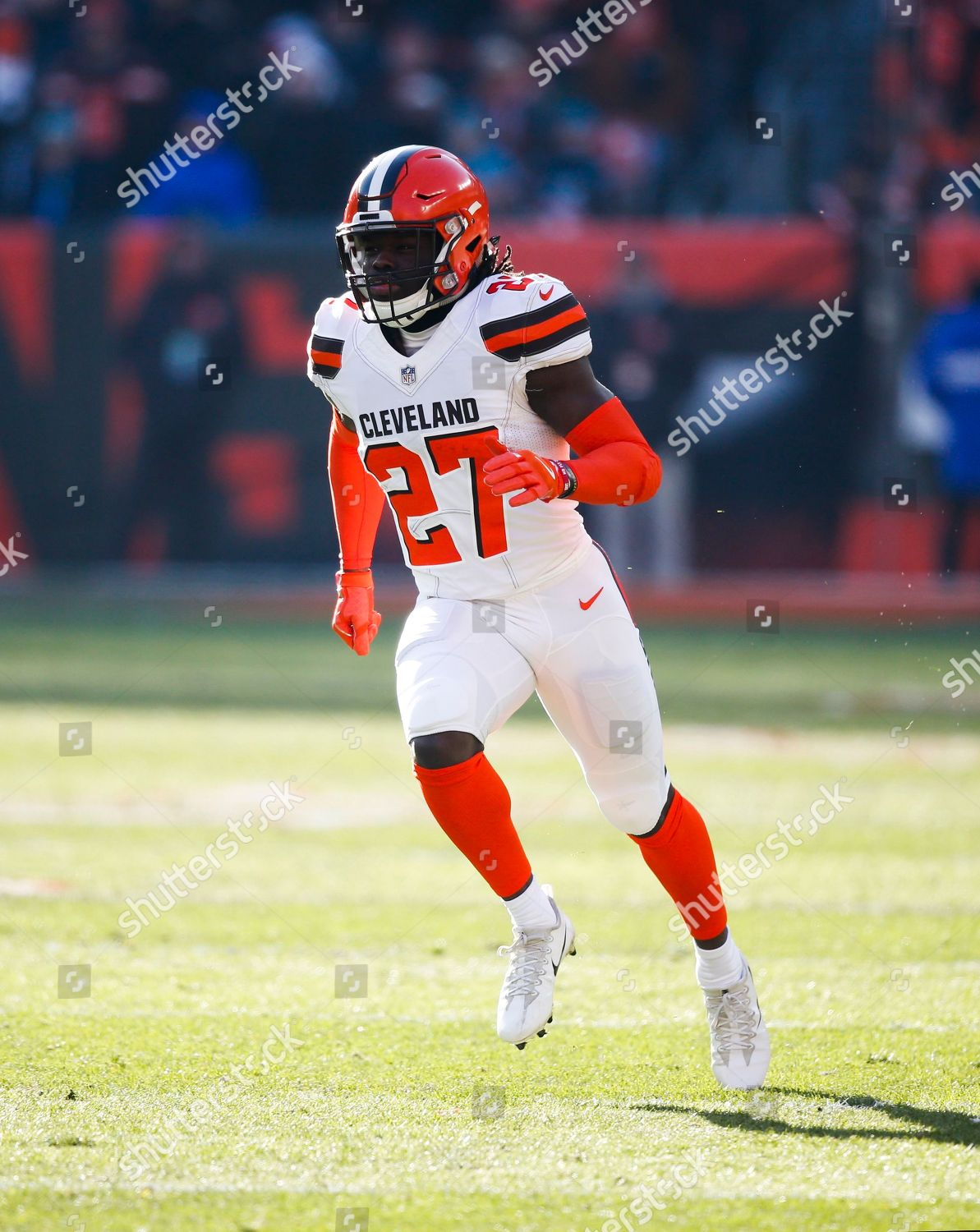 outlet store a462c 5da33 Cleveland Browns defensive back Tavierre Thomas plays ...