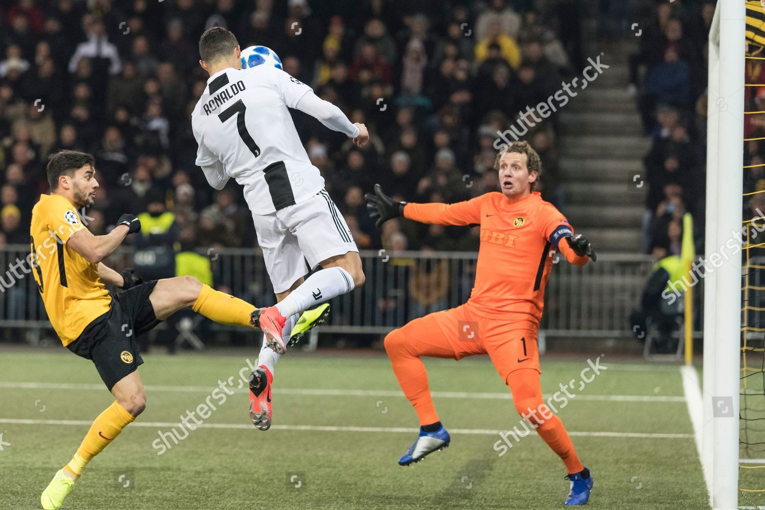 7a17740f2 Juventus Cristiano Ronaldo C action during UEFA Editorial Stock ...