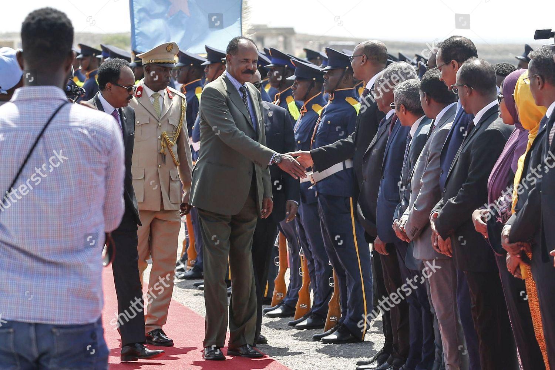 Accompanied by Somalias president Mohamed Abdillahi Mohamed