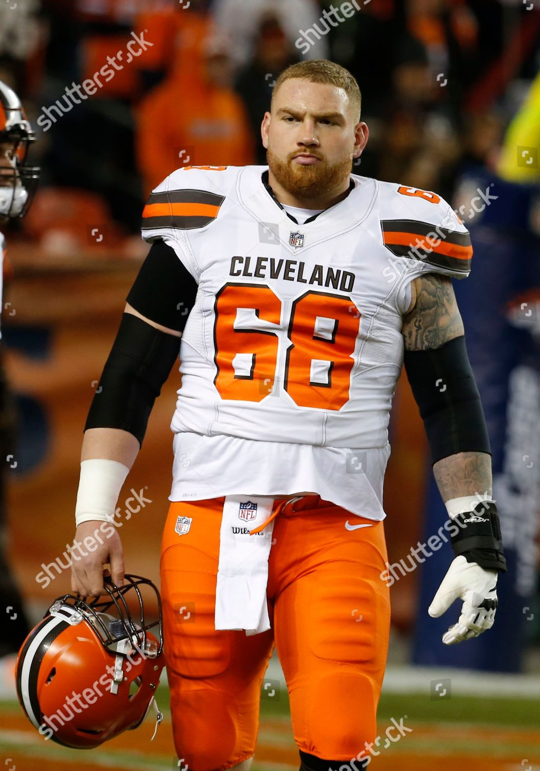 low priced f6db9 fe369 Cleveland Browns offensive guard Kyle Kalis 68 Editorial ...