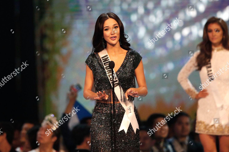 Miss Indonesia Sonia Fergina Citra speaks on Editorial Stock