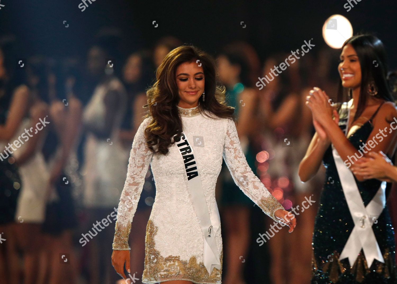 Miss Australia Francesca Hung competes during Miss Editorial Stock