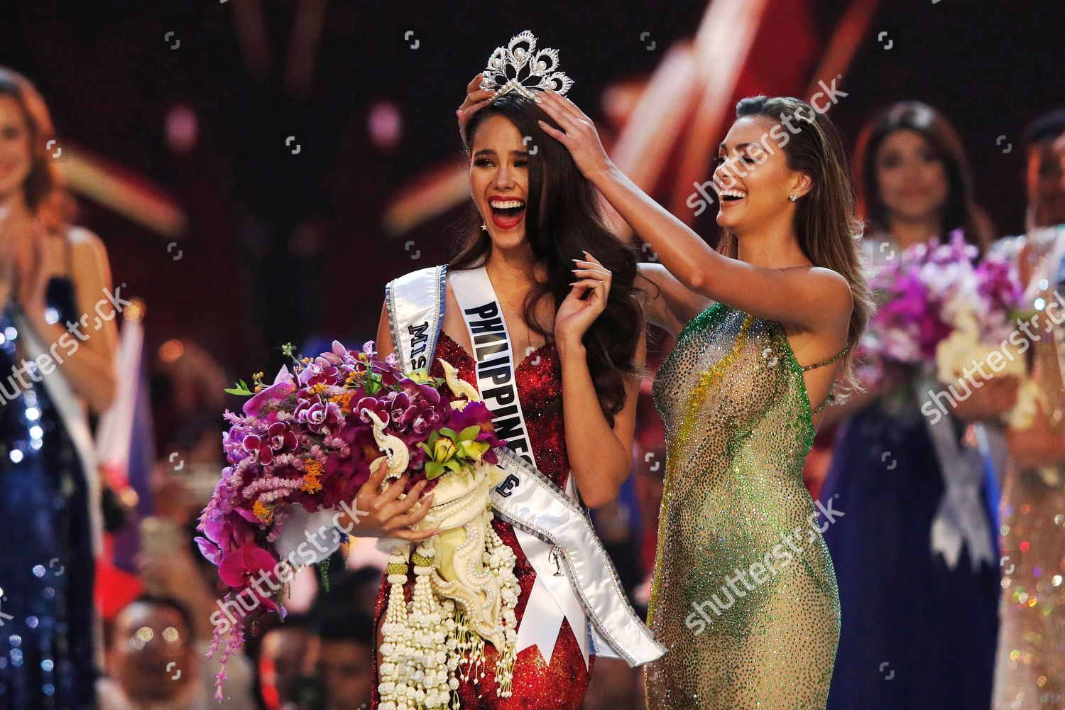 new Miss Universe 2018 Catriona Gray L Editorial Stock Photo