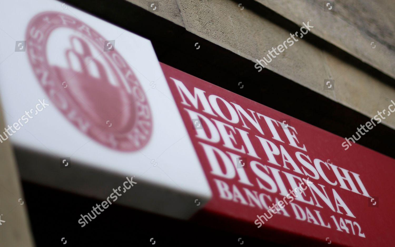 Logo Banca Monte Dei Paschi Di Siena Foto Editorial En Stock Imagen
