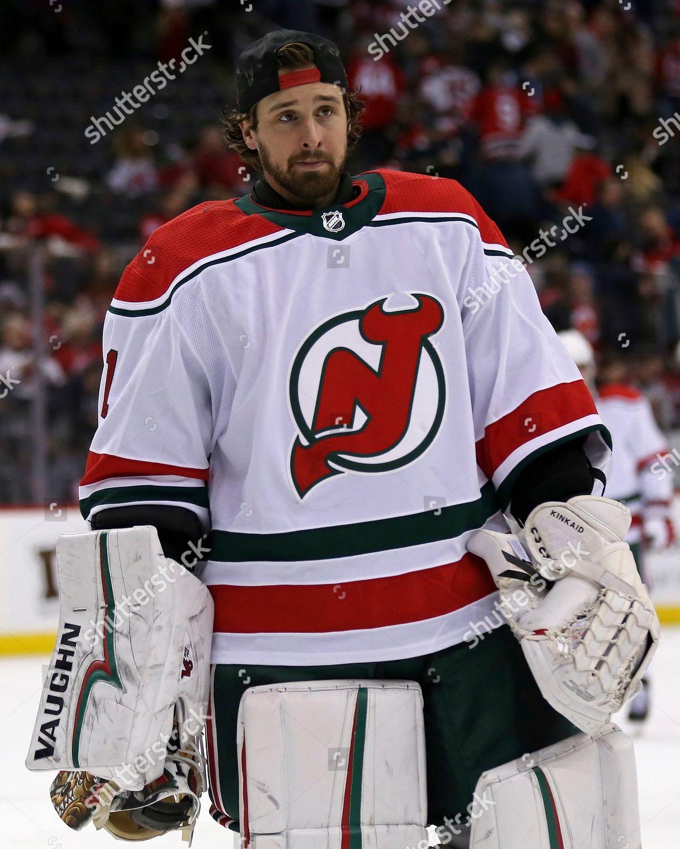 online retailer 88cc0 e0291 New Jersey Devils goaltender Keith Kinkaid skates Editorial ...