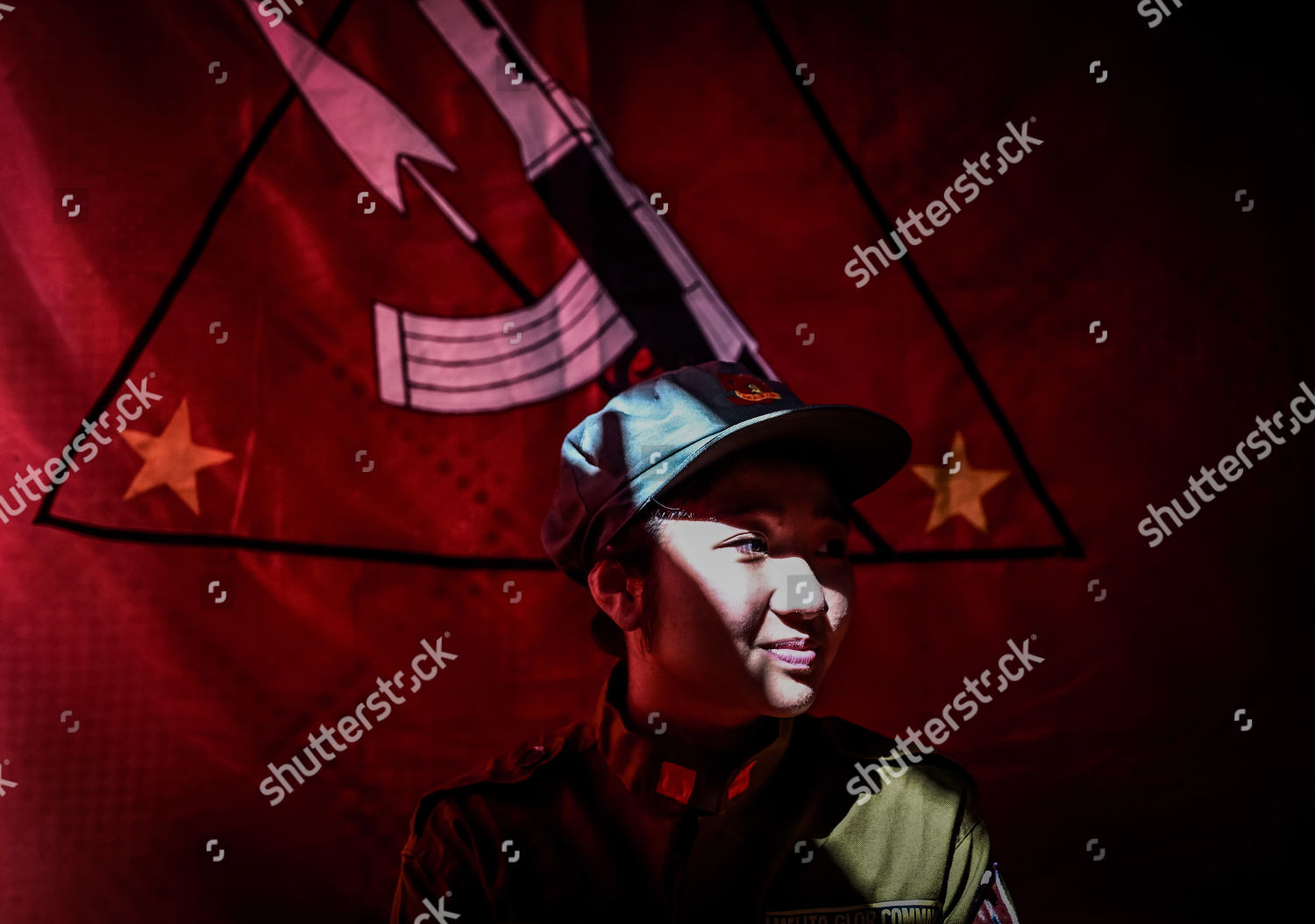 bcf255d52fe Stock photo of Communist rebels celebrate the 50th founding anniversary of  the Communist Party of the