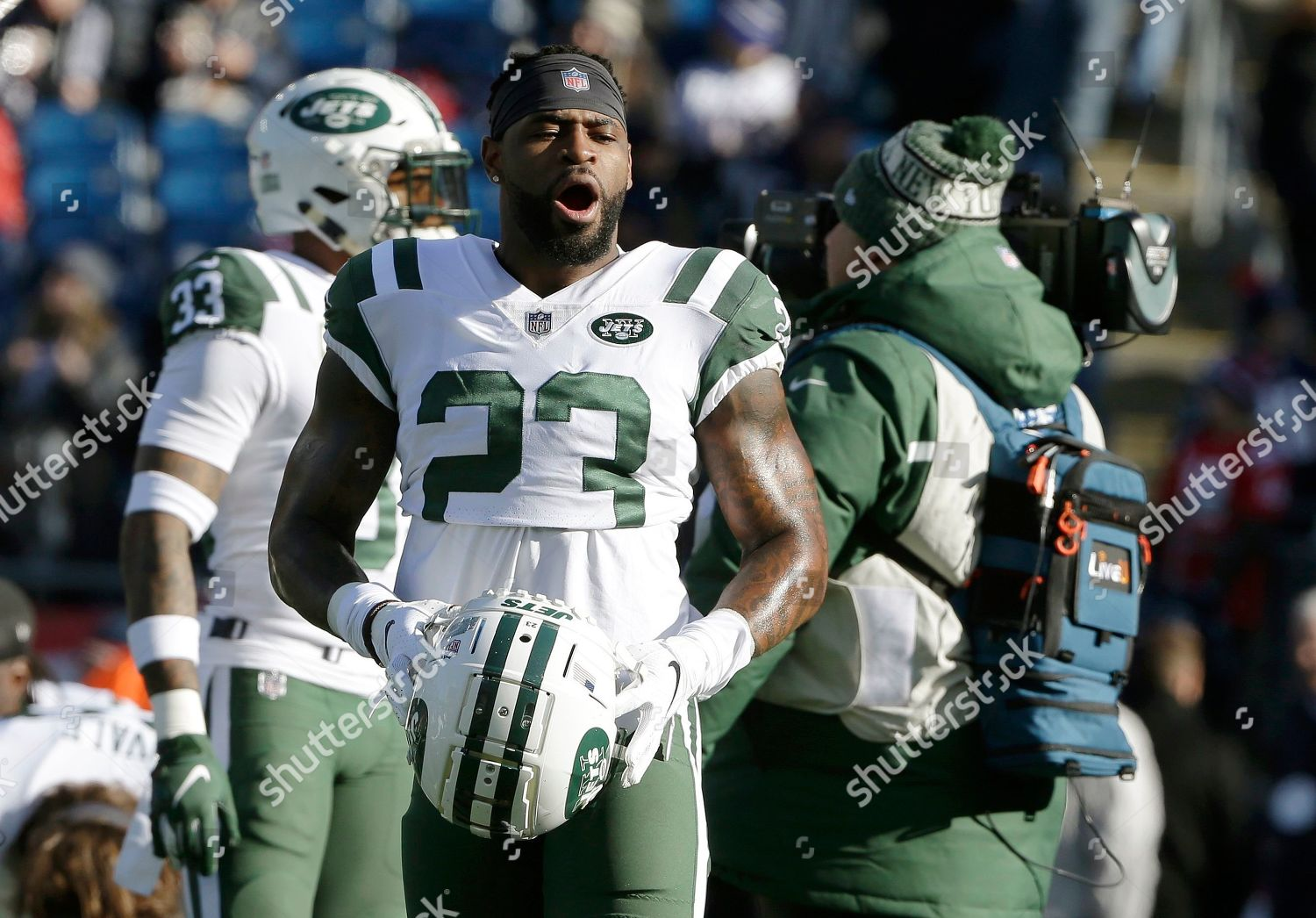 competitive price 99a2d 7c8fd New York Jets defensive back Terrence Brooks Editorial Stock ...