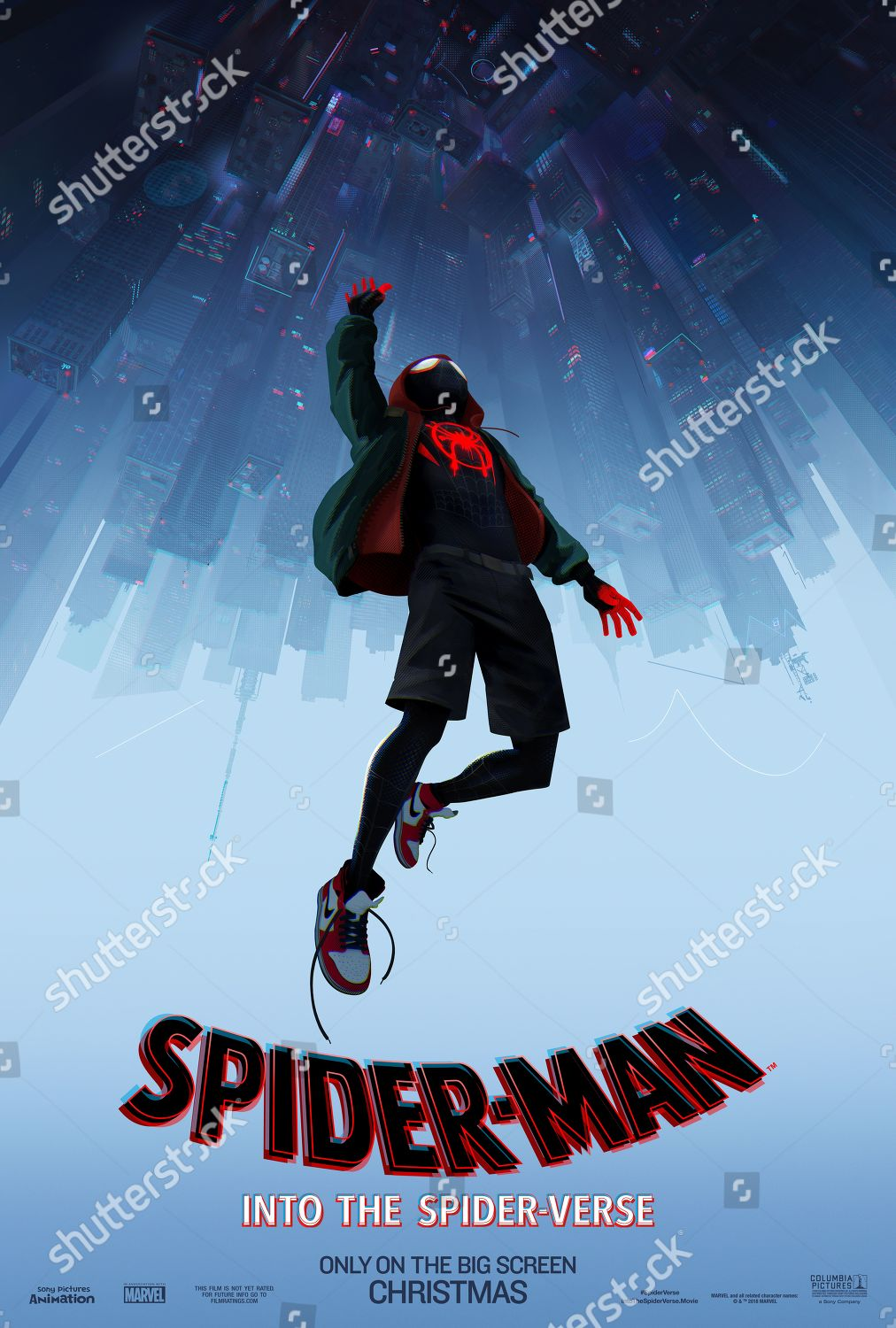 Spiderman Into Spiderverse 2018 Poster Art Miles Editorial Stock Photo Stock Image Shutterstock