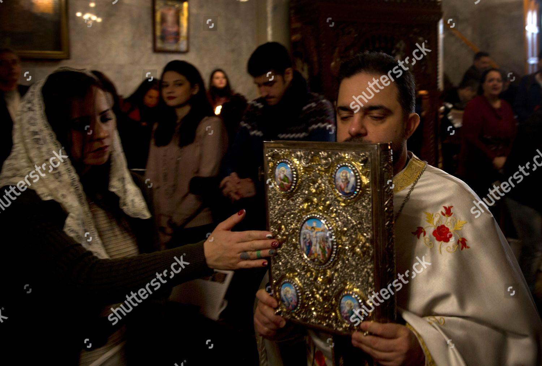 Greek Orthodox Christmas.Greek Orthodox Worshippers Celebrate Christmas Mass St