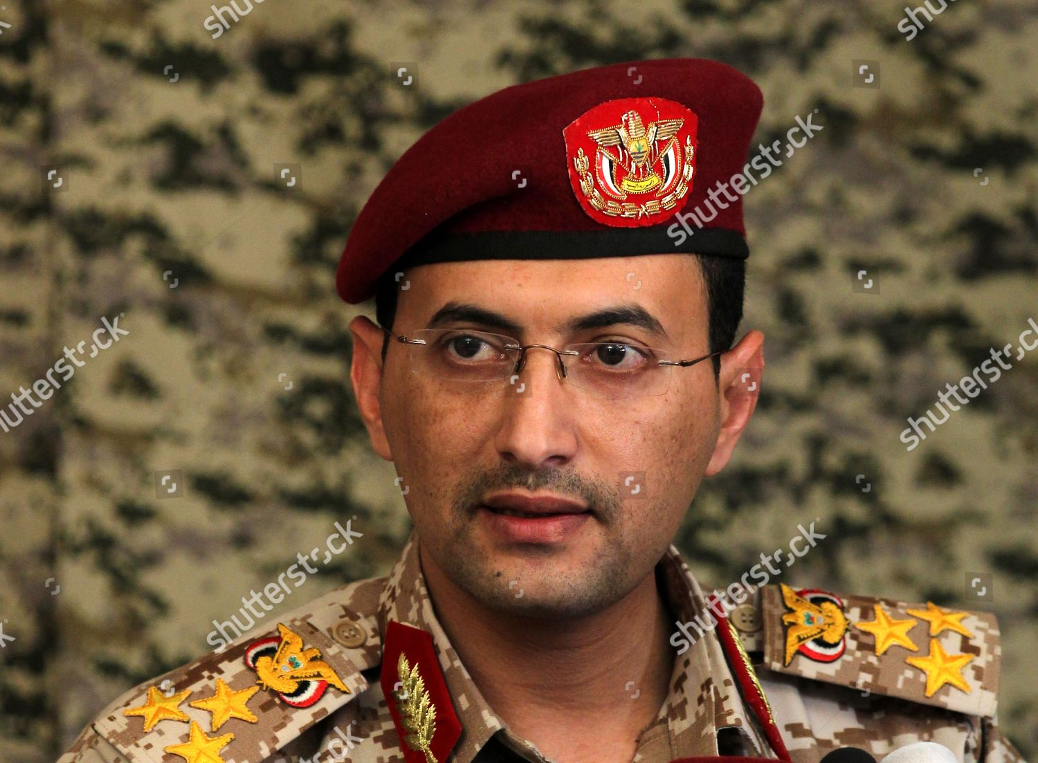 Houthi rebels military wing spokesman Brig Gen Editorial Stock Photo