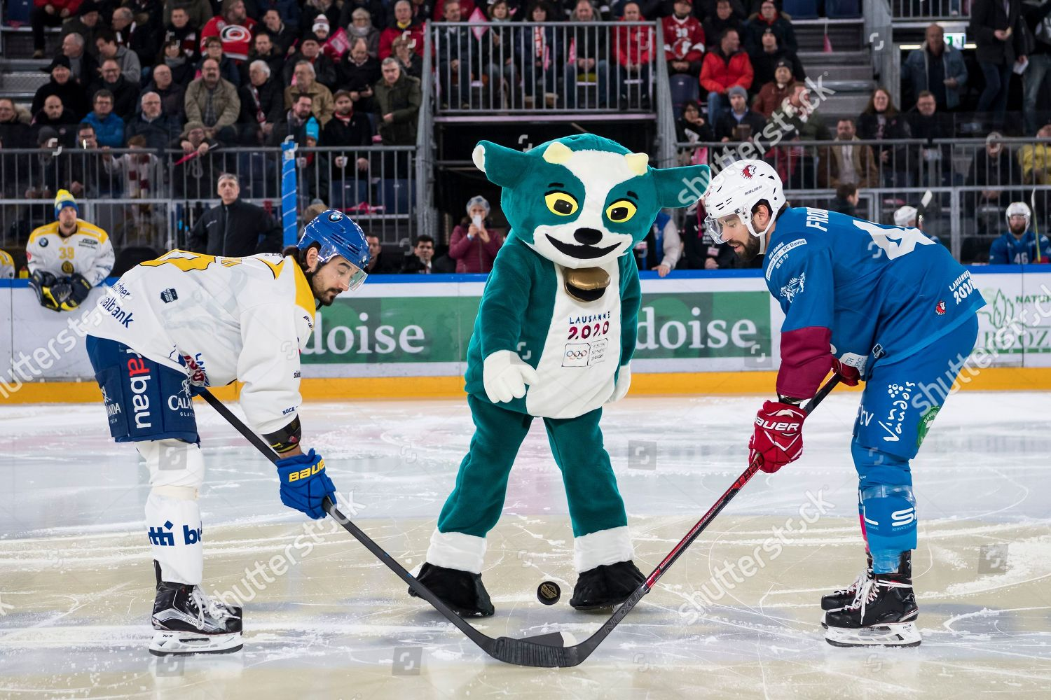 Ice Hockey At The 2020 Olympic Winter Games.Yodli C Mascot Winter Youth Olympic Games Editorial Stock