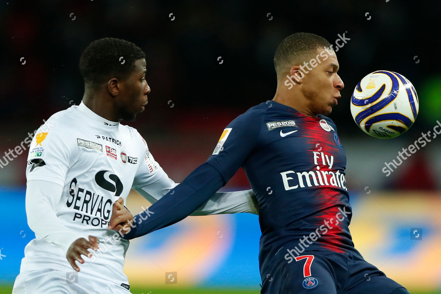 Kylian Mbappe Paris Saint Germain L action Editorial Stock
