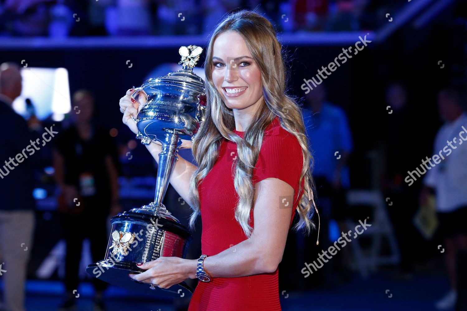 Danish Tennis Player Caroline Wozniacki Seen During Editorial Stock