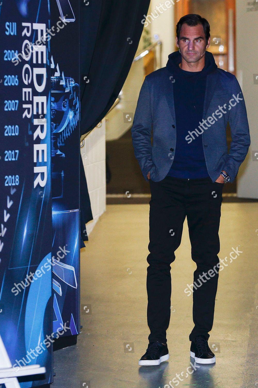 Swiss Tennis Player Roger Federer Seen Before Editorial Stock Photo