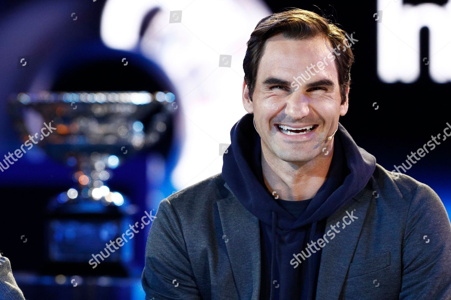 Swiss Tennis Player Roger Federer Seen During Editorial Stock Photo