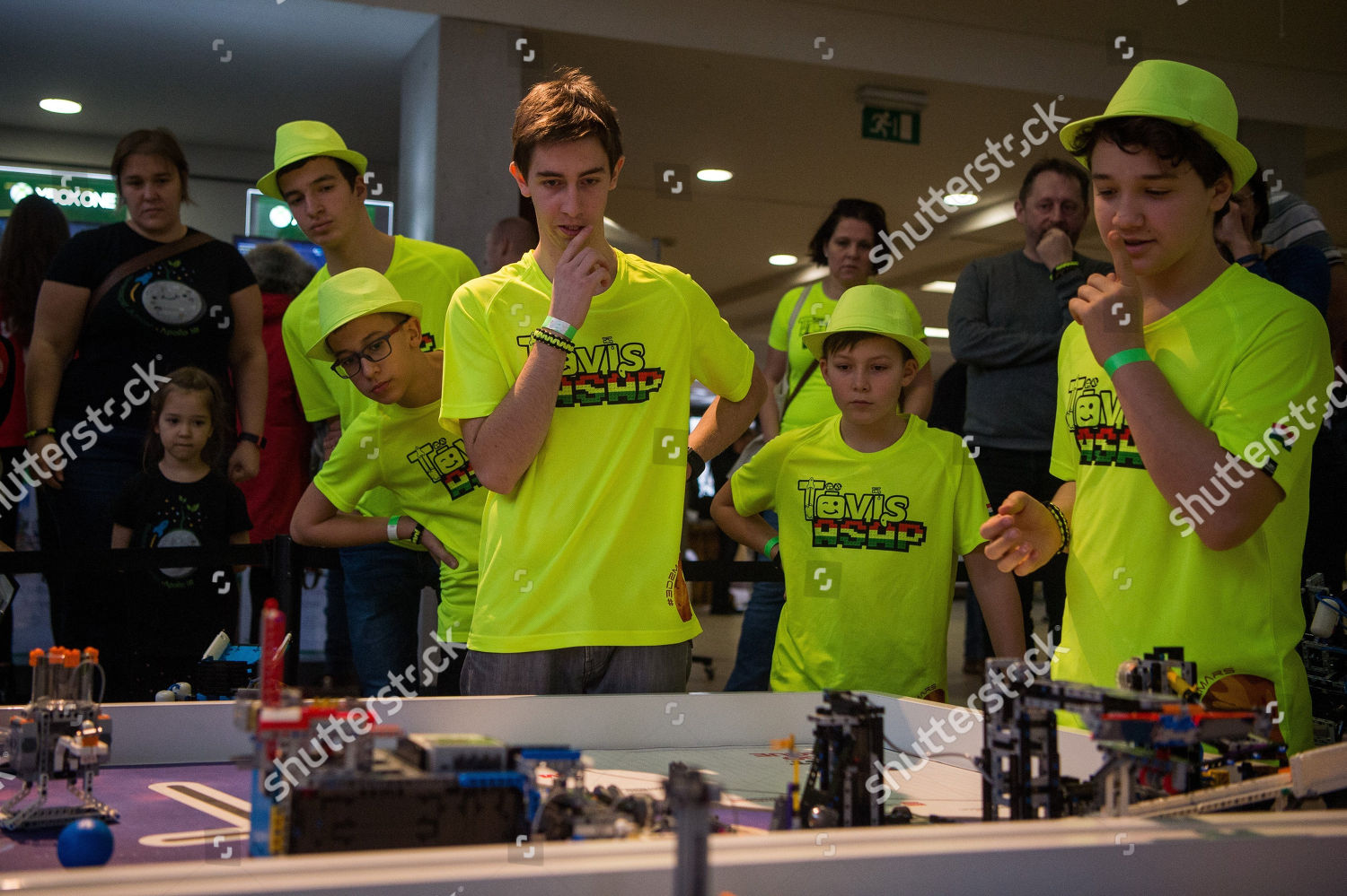 Young participants compete national final FIRST Lego Editorial Stock
