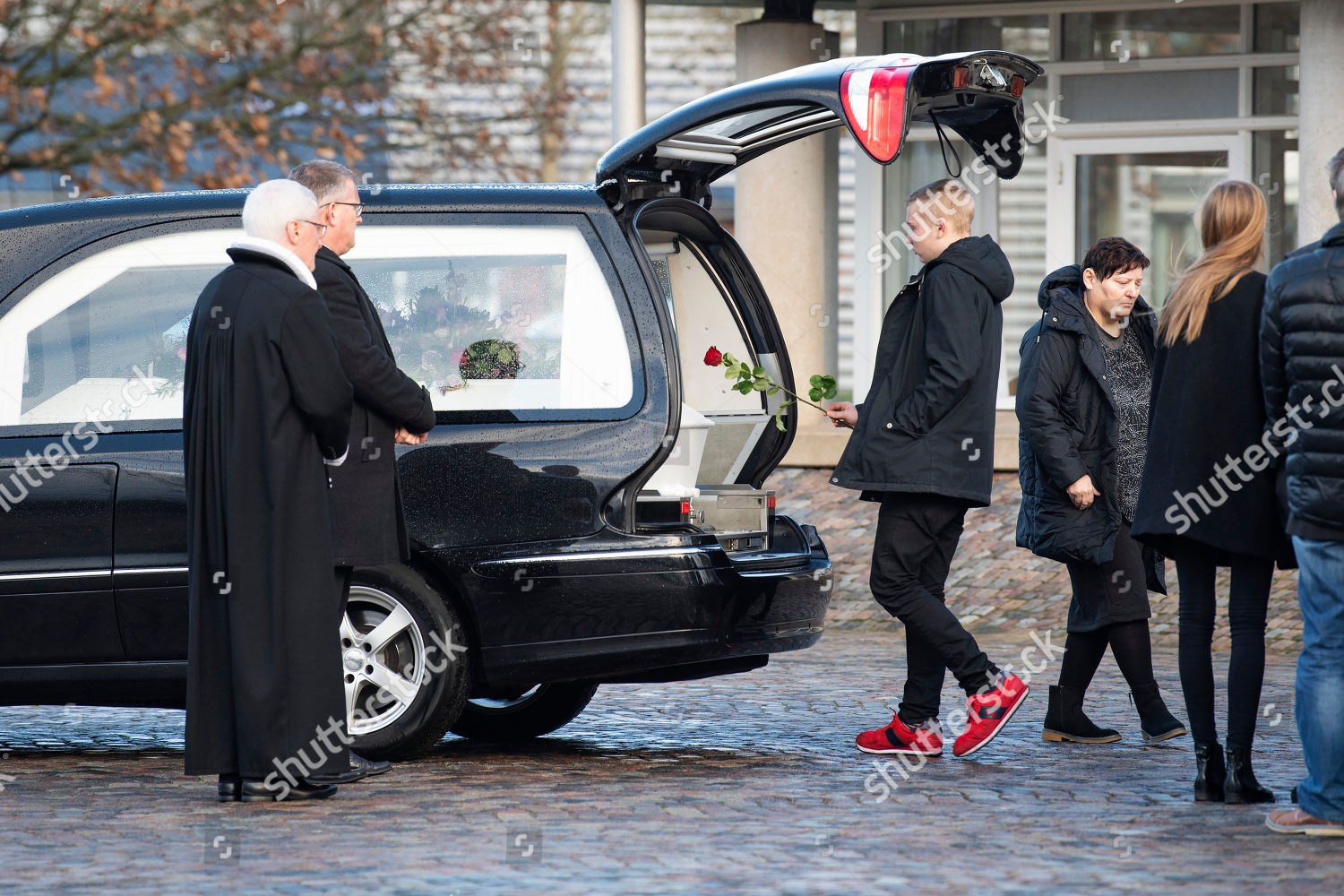 Family friends attend funeral danish student Louisa