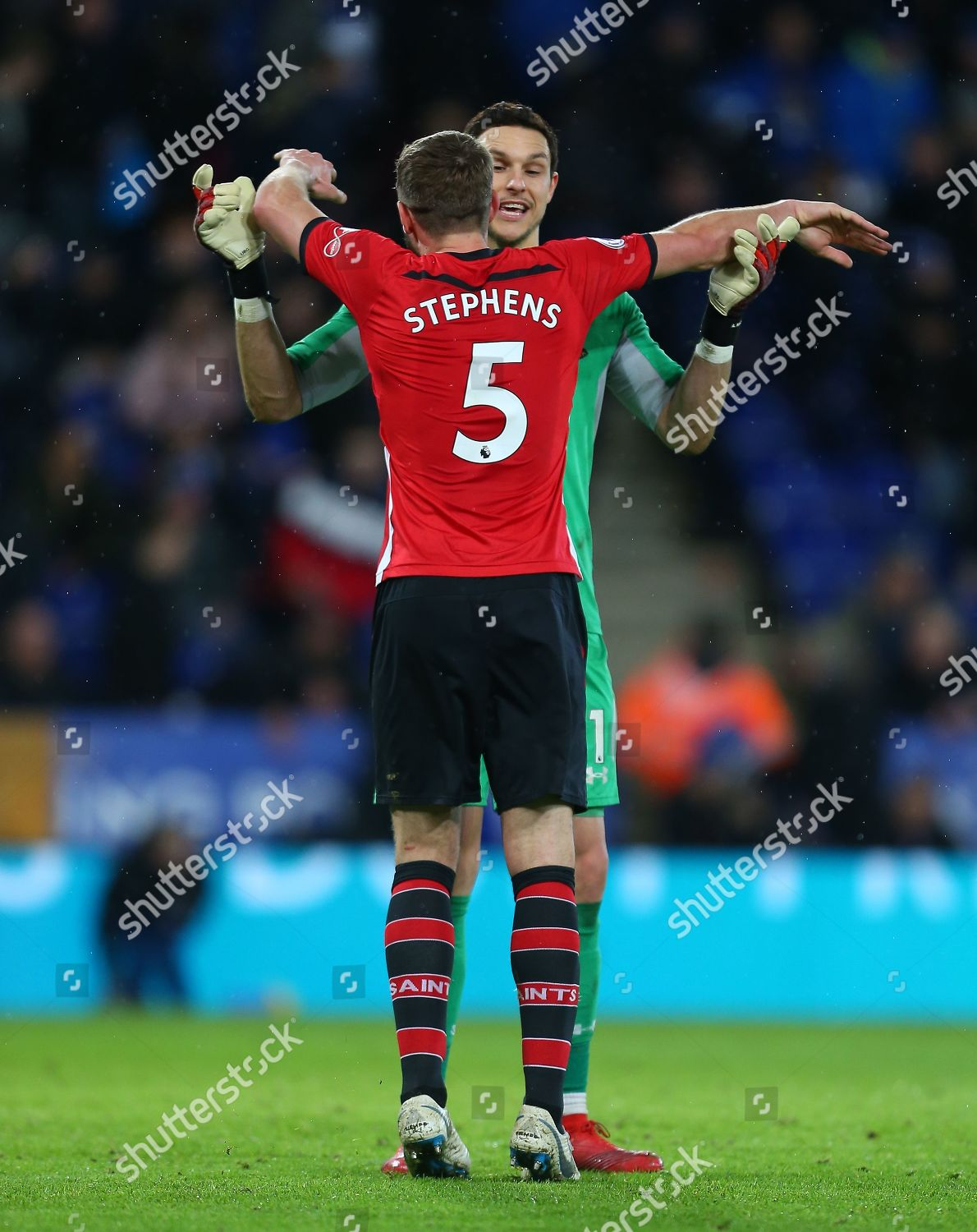 Alex Mccarthy Southampton Celebrates Jack Stephens Southampton Editorial Stock Photo Stock Image Shutterstock