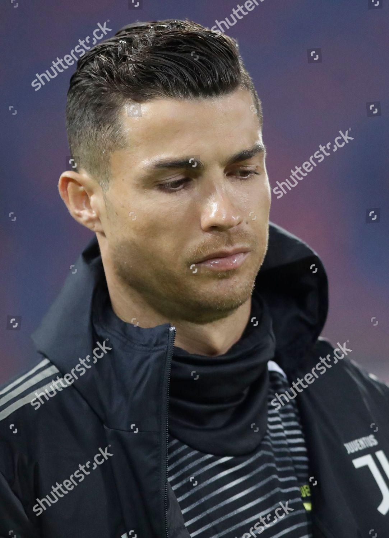Juventus Cristiano Ronaldo Walks Prior Start Round Editorial Stock