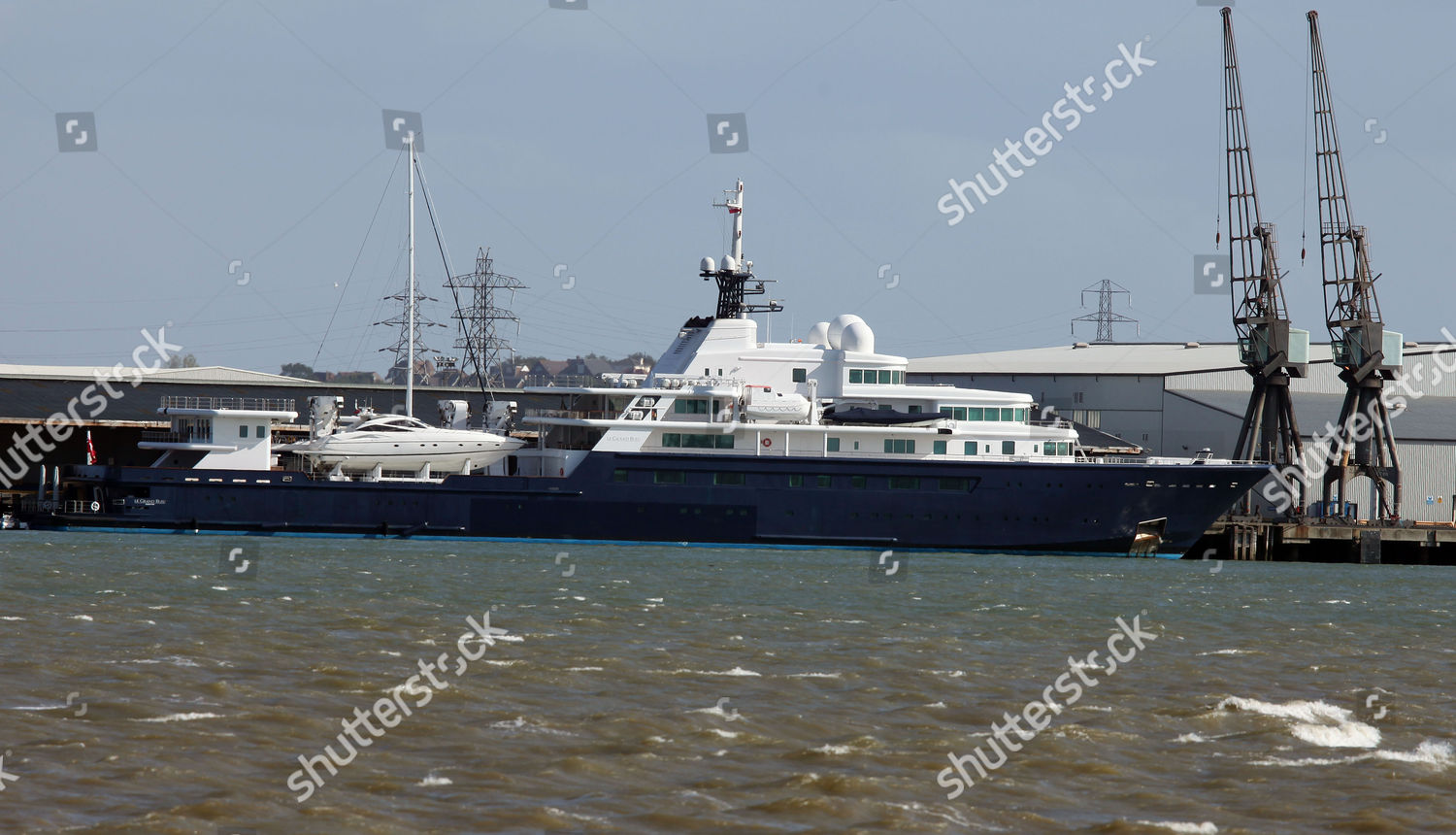Yacht Le Grand Bleu Owned By Roman Editorial Stock Photo Stock