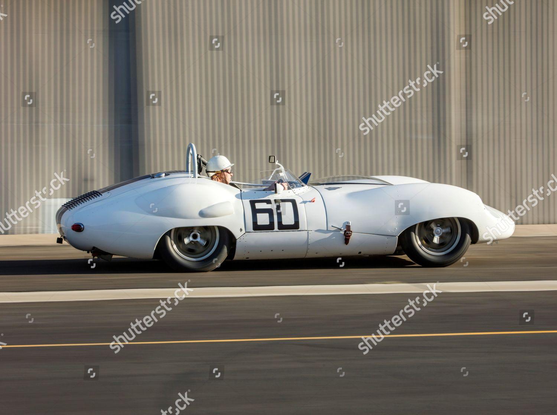 Sale of historic 1959 Lister-Jaguar racing car, Scottsdale, Arizona, USA - Jan 2019