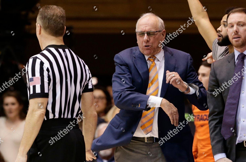 Editorial Stock Photo Of Syracuse Head Coach Jim Boeheim Reacts