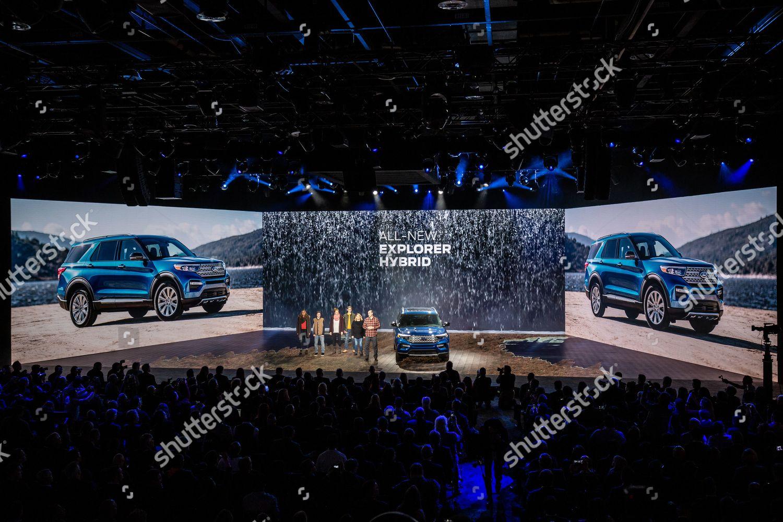 International Auto Show 2020.Ford Unveils Allnew 2020 Ford Explorer St Editorial Stock