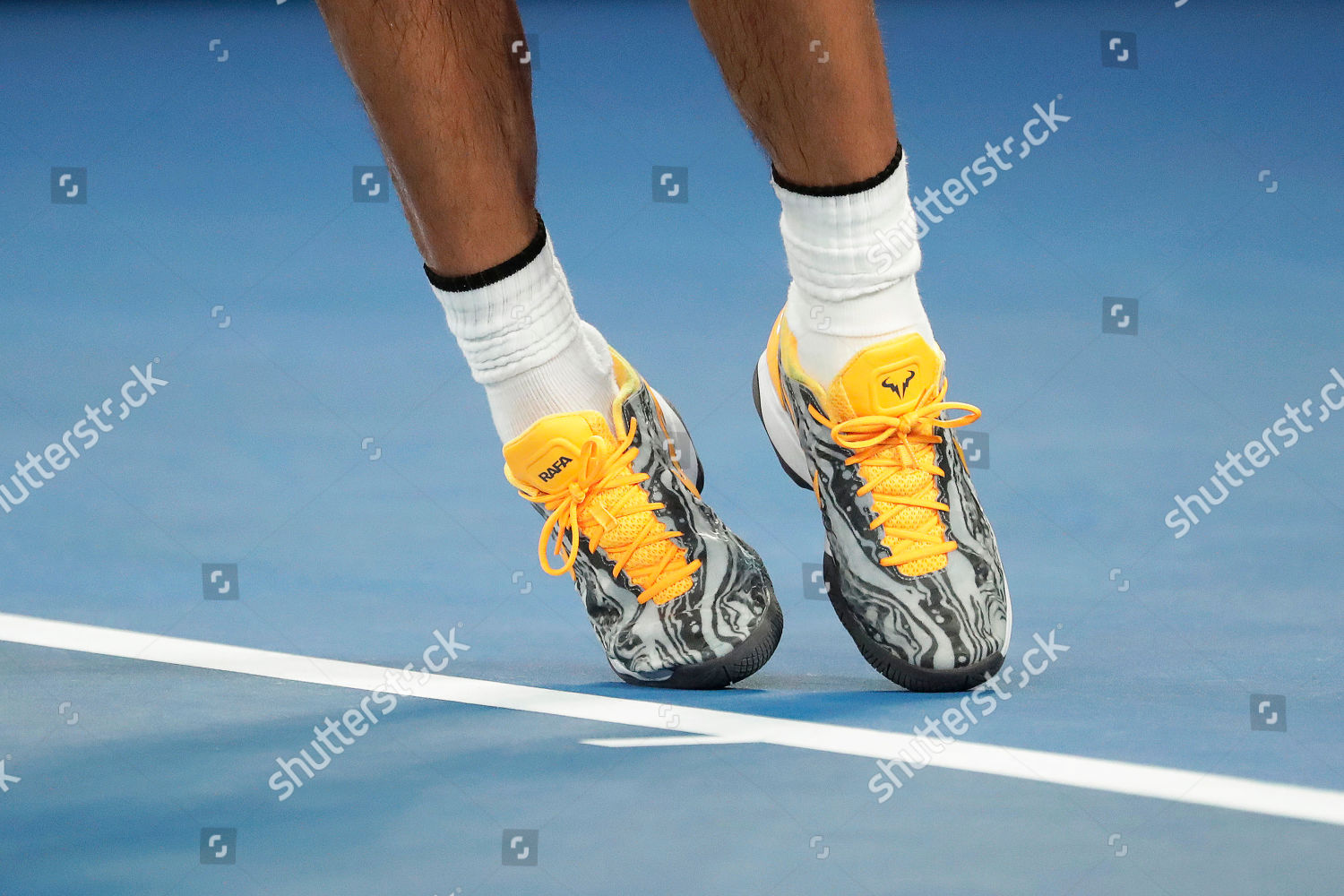 Close View Shoes Rafael Nadal Spain During Editorial Stock Photo Stock Image Shutterstock