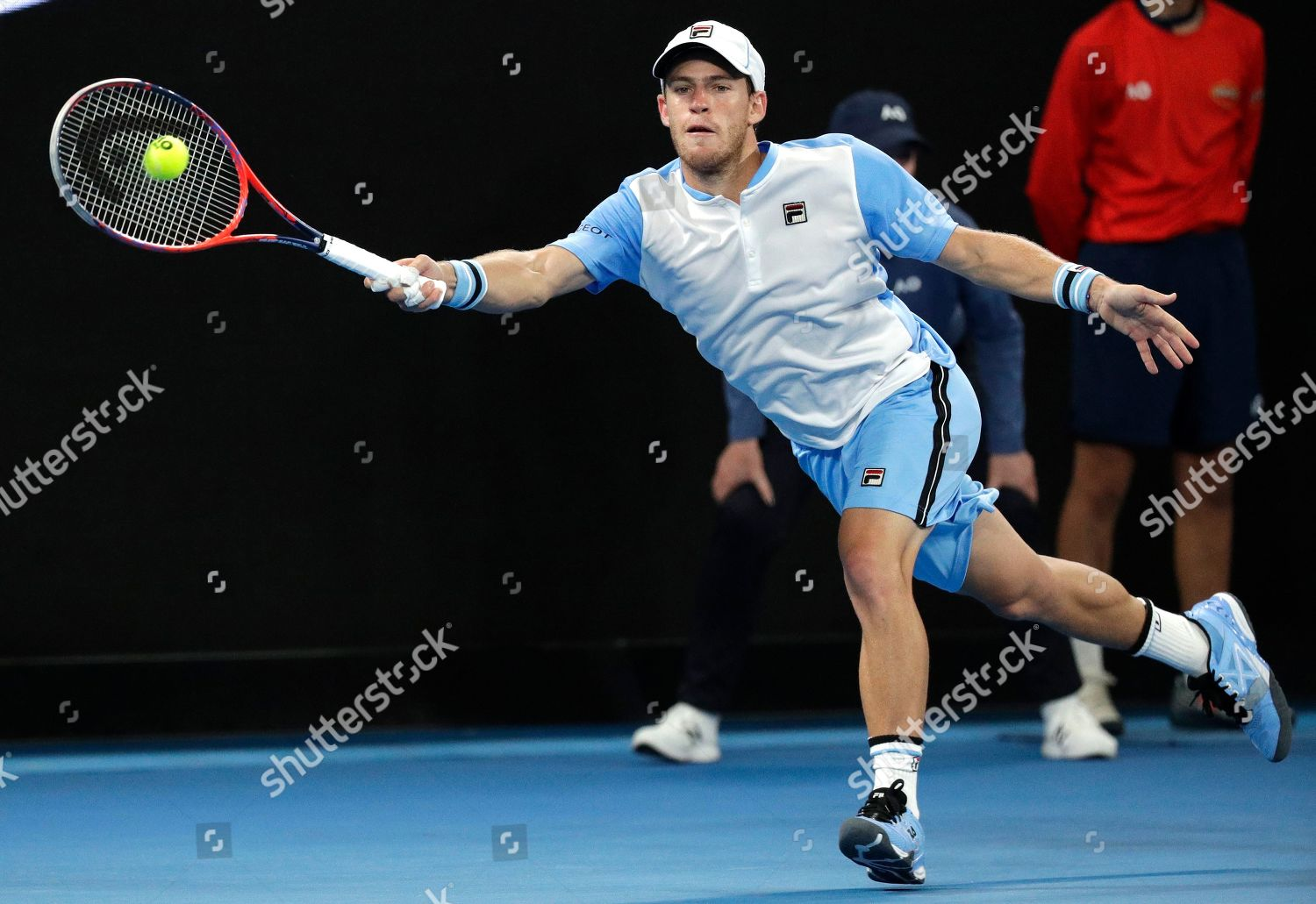 Argentinas Diego Schwartzman Makes Forehand Return Tomas Editorial Stock Photo Stock Image Shutterstock