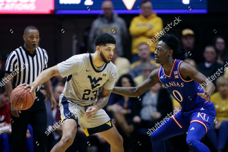 d97806c46aa5 Stock photo of Kansas West Virginia Basketball, Morgantown, USA - 19 Jan  2019