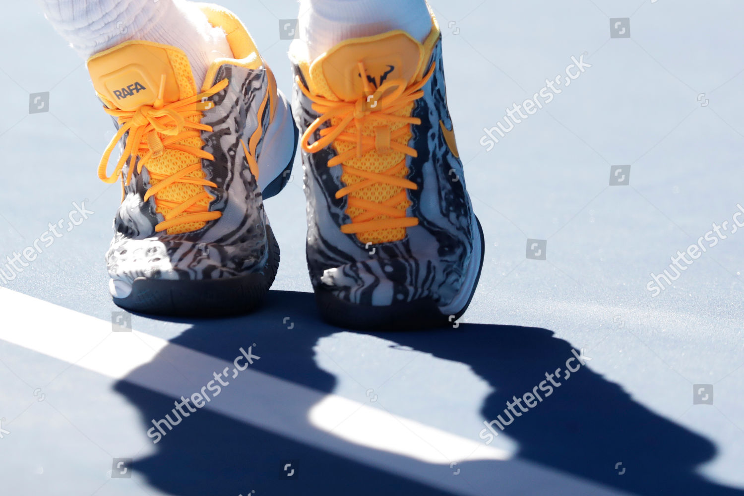 Closeup Shoes Belonging Rafael Nadal Spain Action Editorial Stock Photo Stock Image Shutterstock