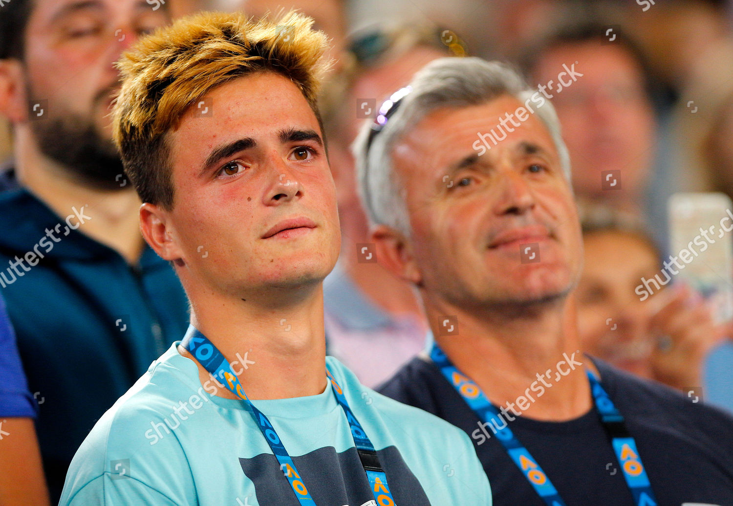 Brother Stefanos Tsitsipas Greece Overcome Emotion Following Editorial Stock Photo Stock Image Shutterstock